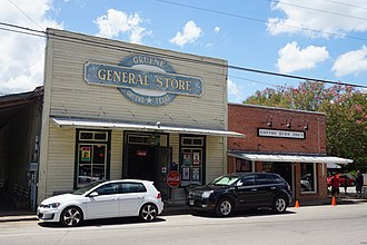 Gruene, New Braunfels, Texas - Gruene General Store attracts tourists to the historical community.