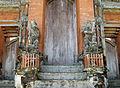 Guardian Sculptures with European Crowns, Pura Taman Ayun 1498.jpg