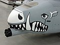 Gun under the nose of an A-10 Thunderbolt.jpg