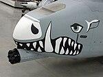 Gun under the nose of an A-10 Thunderbolt.jpg