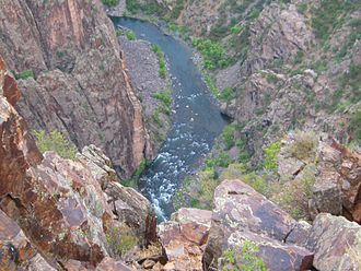 Black Canyon of the Gunnison National Park - Overview Black Canyon with Gunnison River