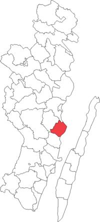 Mönsterås købstad i Kalmar amt