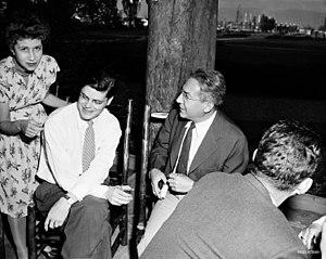 Robert R. Wilson - Jane and Robert Wilson with I. I. Rabi (c. 1950)