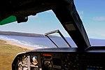HEBRIDEAN AIR SERVICES FLIGHT 302 G-HEBO BN2B ISLANDER FROM ISLAY TO OBAN AIRBOURNE FROM ISLAY SCOTLAND SEP 2013 (9686662645).jpg