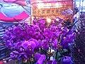 HK CWB 維園年宵市場 Victoria Park Fair - flowers purple stall Jan-2012 Ip4.jpg