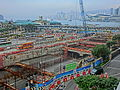 HK Central IFC terrace view 08 construction site 金融街 Finance Street May-2013.JPG