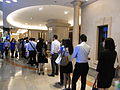 HK Sheung Wan 新紀元廣場 Grand Millennium Plaza lift lobby 09 visitors queue morning July-2012.JPG