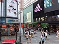 HK tram view CWB Causeway Bay Yee Wo Hong Kong Building sidewalk shops Street August 2019 SSG 07.jpg