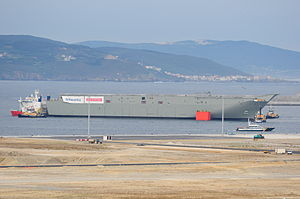 MV Blue Marlin - HMAS Canberra at Ferrol