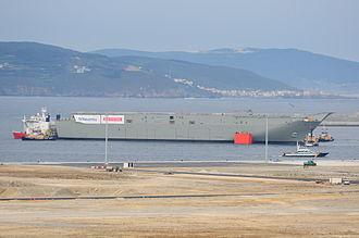 MV Blue Marlin - HMAS Canberra at Ferrol