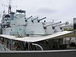 HMS Belfast rear turrets May 2006.JPG