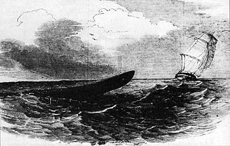 HMS Plumper (1848) - Supposed Appearance of the Great Sea-Serpent, From H.M.S. Plumper, Sketched by an Officer on Board, Illustrated London News, 14 April 1849
