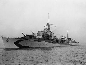 HMS Teazer (R23) - Image: HMS Teazer (R23) IWM FL 009520