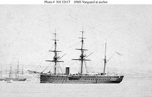 HMS Vanguard (1870) - HMS Vanguard