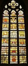haarlem bavokerk grote markt- rynland wapens raam