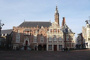 Haarlem - City Hall on the Grote Markt, built in the 14th century, replacing the Count's castle, after this had burnt down partially. The remainders were given to the city.