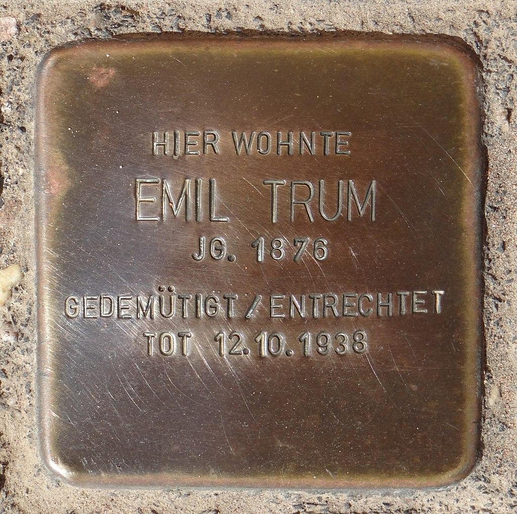 Hahnheim Stolperstein Untere Hauptstraße 2 Emil Trum.jpg