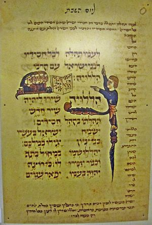 Psalm 149 - Psalm 149 in Hebrew on a French parchment thirteenth century.