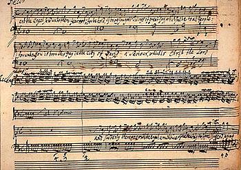 Handel's manuscript of the Messiah