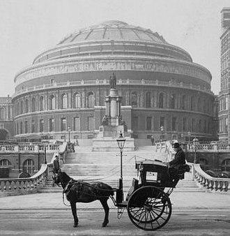 Charles Chetwynd-Talbot, 20th Earl of Shrewsbury - A hansom cab, London, 1904.