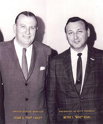 "Frank S. Farley - Senator Frank S. ""Hap"" Farley with President of Ventnor City Council, Meyer I. ""Mike"" Segal"