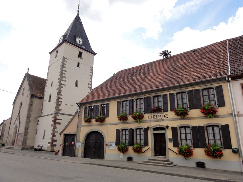 Alsace, Bas-Rhin, Harskirchen, Rue de Fénétrange Église Saint-Nicolas:      This building is indexed in the Base Mérimée, a database of architectural heritage maintained by the French Ministry of Culture, under the reference IA67005796.    বাংলা | brezhoneg | català | Deutsch | Ελληνικά | English | Esperanto | español | euskara | suomi | français | magyar | italiano | 日本語 | македонски | Nederlands | português | português do Brasil | română | русский | sicilianu | svenska | українська | +/−    Mairie (1750):      This building is indexed in the Base Mérimée, a database of architectural heritage maintained by the French Ministry of Culture, under the reference IA67005804.    বাংলা | brezhoneg | català | Deutsch | Ελληνικά | English | Esperanto | español | euskara | suomi | français | magyar | italiano | 日本語 | македонски | Nederlands | português | português do Brasil | română | русский | sicilianu | svenska | українська | +/−
