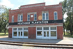The Heathman Plantation Commissary is listed on the National Register of Historic Places