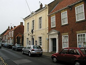 Henry Guy (politician) - The Town Hall, Hedon, next to Alexandra Hall; financed by Henry Guy.