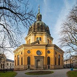 Hedvig Eleonora kirke i december 2017.