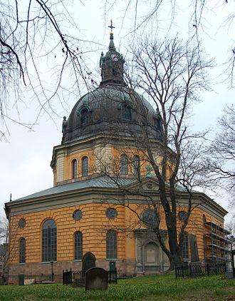 Simon de la Vallée - Image: Hedvig Eleonora kyrka västvy