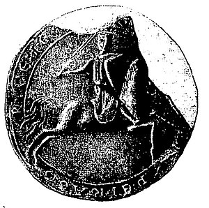 Count of Périgord - The counter-seal of Elias VI of Périgord