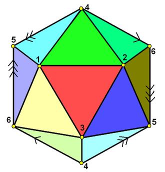 Hemi-icosahedron - Image: Hemi icosahedron