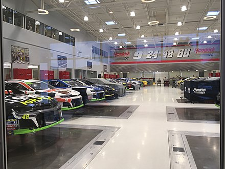 Hendrick Motorsports race shop in Concord, NC Hendrick Motorsports race shop floor.jpeg