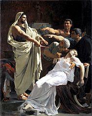 El jurament de Brutus després de la mort de Lucrècia