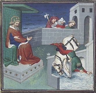 Henry (VII) of Germany - Henry's death, 15th century depiction
