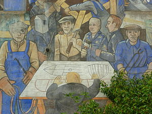 Henry Robb - Workers at Henry Robb's, portrayed on the Leith Mural