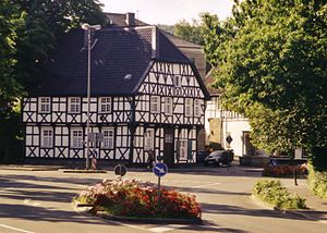 Herdecke - An old timber framing house at the town entrance