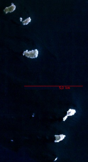 Los Hermanos Archipelago - Satellite view