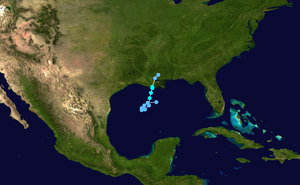 Tropical Storm Hermine (1998) - Image: Hermine 1998 track