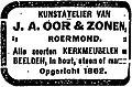 Het Centrum vol 032 no 9656 Kunstatelier van J.A. Oor & Zonen, Roermond.jpg