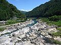 Hida river in Hichiso Dam.JPG