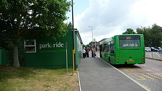 High Wycombe - Park & ride in July 2009