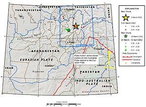 2002 Hindu Kush earthquakes - Image: Hindu Kush E Qs