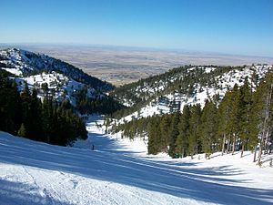 Hogadon Ski Area - Looking towards Casper, from the top of one of the runs at Hogadon.