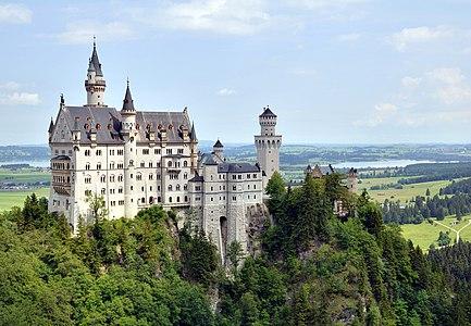 Castle Neuschwanstein from south