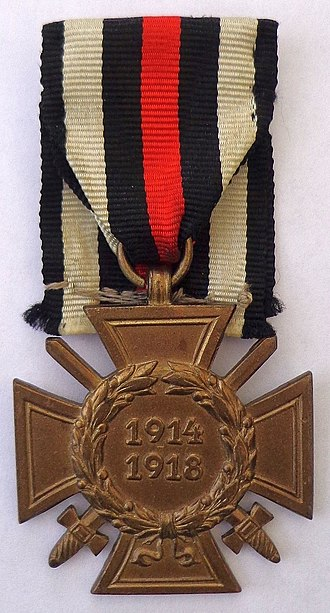 The Honour Cross of the World War 1914/1918 - Honour Cross with Swords (for front-line veterans)