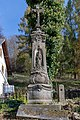 Horní Teplice, kříž u čp. 14 01.jpg