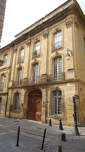 Aix-Marseille University - Hôtel Maynier d'Oppède, built 1757, former home of the IEFEE