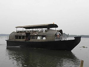 Chettuva Backwater - A house boat in the Chettuva backwaters in Thrissur District