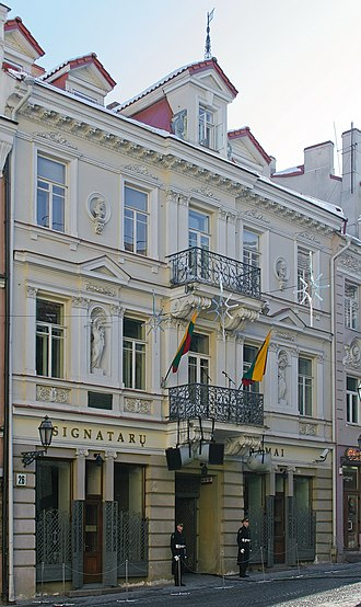 National Museum of Lithuania - The House of the Signatories houses a part of the museum's collections
